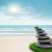 Zen-like stones inclination — Stock Photo