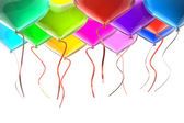 Balloons with ribbons — Stock Photo