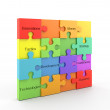 Puzzle business in colors — Stock Photo