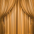 Gold curtain - Stock Photo