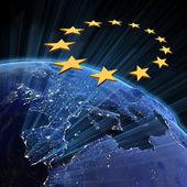 Luzes da cidade da união europeia — Foto Stock