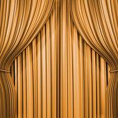 Gold curtain — Stock Photo