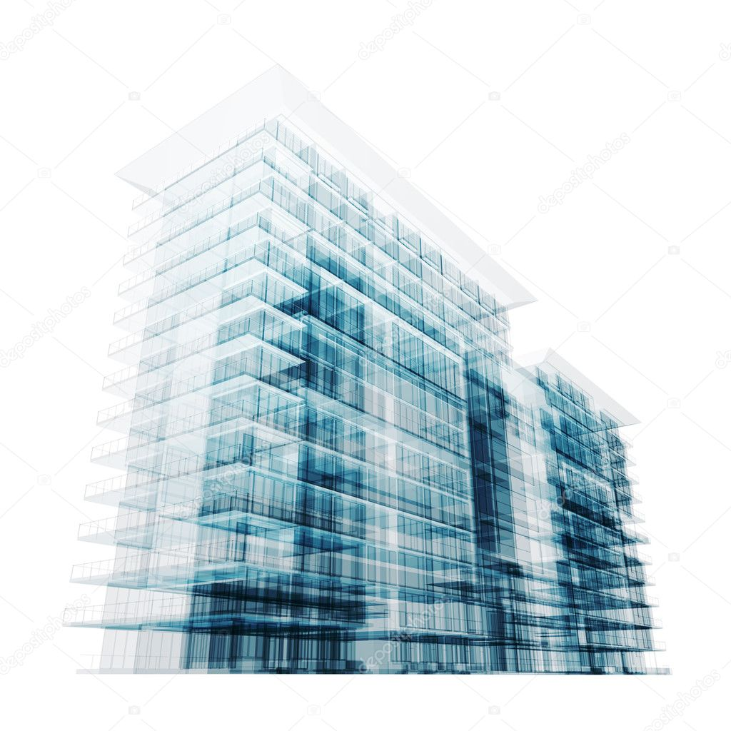 Modern building. Isolated on white  Stock Photo #4857536