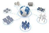 Globale kommunikation — Stockfoto