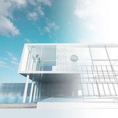 Blueprint esterno — Foto Stock