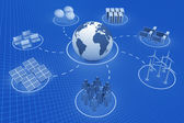 Comunicação global — Foto Stock