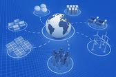 Globalnej komunikacji — Zdjęcie stockowe