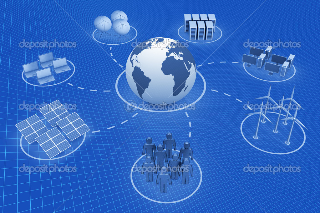 Global communication. Cyberspace 3d render — Stock Photo #5147731