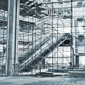 атриум строительство — Стоковое фото