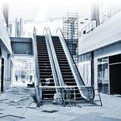 Escalator building — Stock Photo