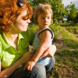 Stock Photo: Little girl and mother
