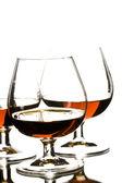 Glasses of cognac — Stock Photo