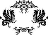Fantasy framework second variant — Stock Vector