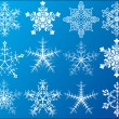 Snowflakes icons set - Stock Vector
