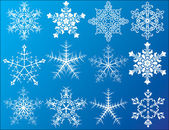 Snowflakes icons set — Stock Vector