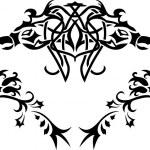 Fantasy birds stencil — Stock Vector