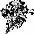 Flower stencil — Stockvectorbeeld