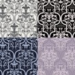Damask seamless wallpaper — Stock Vector