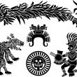 Royalty-Free Stock Vector Image: Aztec stecil set