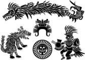 Aztec stecil set — Stock Vector