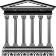 Greek temple stencil — Stock Vector