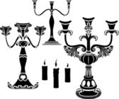 Set of candelabrum — Stock Vector