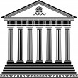 Vector de stock : Greek temple stencil second variant