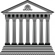Greek temple stencil second variant — Vector de stock