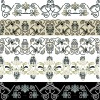 Royalty-Free Stock Vectorielle: Greek patterns borders set