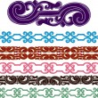 Stock Vector: Filigree medieval patterns set
