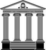 Greek temple stencil third variant — Stock Vector