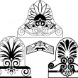 Set of traditional architectural elements stencil — Stock Vector #5269661