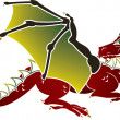 Stock Vector: Traditional Europedragon stencil