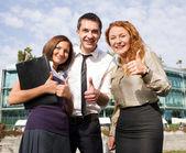 Gruppo della felicità espressa di ufficio lavoratori — Foto Stock