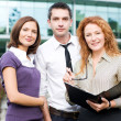 Group of office workers outdoor - Stock Photo