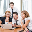 Manager with office workers on meeting — Stock Photo #4051995
