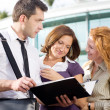 Group of office workers outdoor — Stock Photo