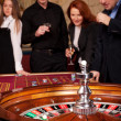 Roulette table with on background — Stock Photo