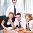 Manager with office workers on meeting — Stock Photo #5133948