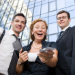 Happy office  workers - Stock Photo