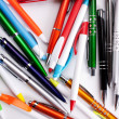 Colored pens on table — Stock Photo