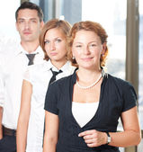 Group of officce workers — Stock Photo