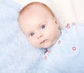 Portrait of newborn baby — Stock Photo
