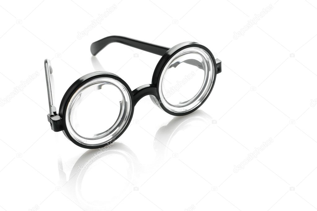 Black glasses over white background — Stock Photo #3963944