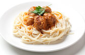 Spagetti and meat balls — Stock Photo