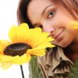 Woman and flower. — Stock Photo #4646340