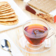 Tea with teabags — Stock Photo