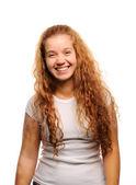 Cute ginger girl smiling — Stock Photo