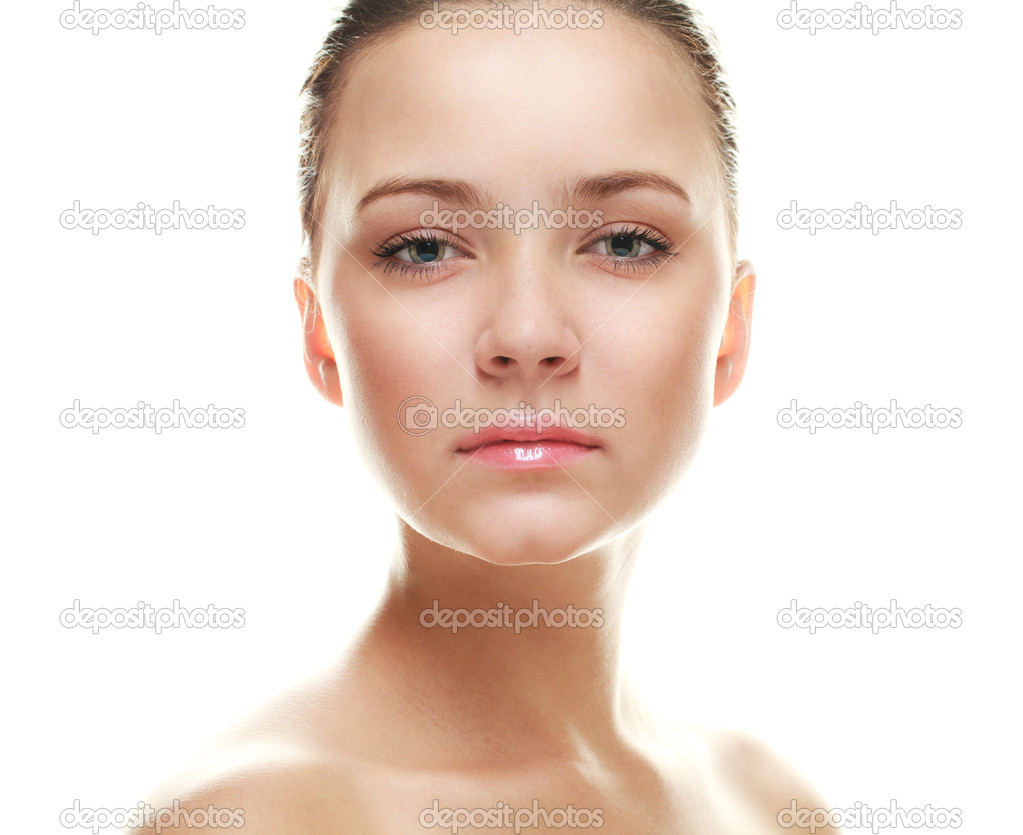 Woman with perfect skin. Isolated over white. — Stock Photo #4649484