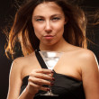 Woman with cocktail — Stock Photo #5028583
